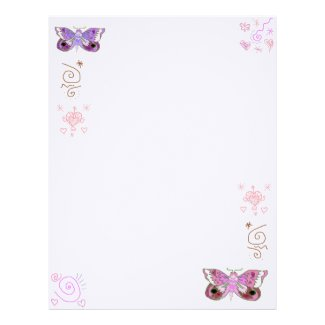 Pink and Purple Butterflies Book of Shadow Pages