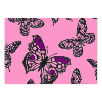 Pink and Purple Butterflies Business Cards