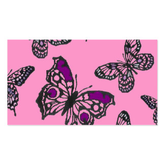 Pink and Purple Butterflies Business Card