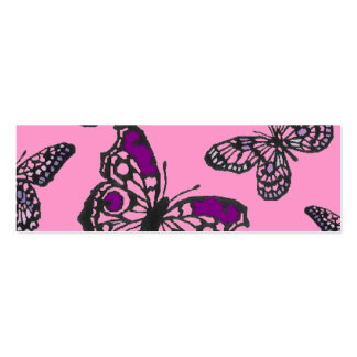 Pink and Purple Butterflies Mini Business Card