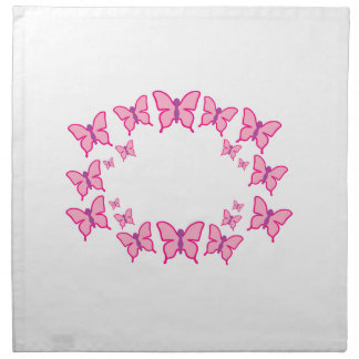 Pink and Purple Butterflies Cloth Napkin