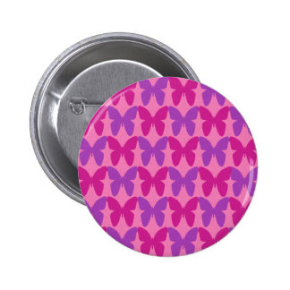 Pink and purple butterflies pattern button