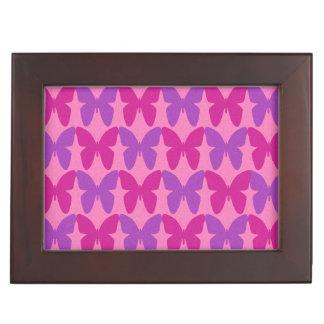 Pink and purple butterflies pattern memory box