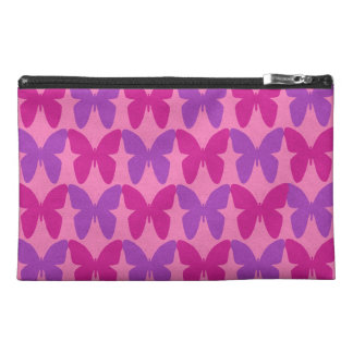 Pink and purple butterflies pattern travel accessory bag