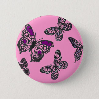 Pink and Purple Butterflies Pinback Button