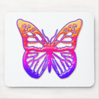 Pink and Purple Butterfly Mouse Pad