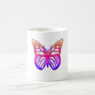Pink and Purple Butterfly Classic White Coffee Mug