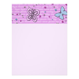 Pink And Purple Butterfly Pattern Flyer