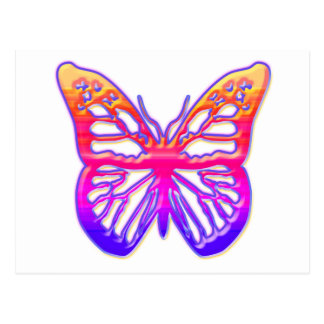 Pink and Purple Butterfly Postcard