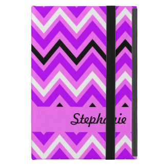 Pink and Purple Chevron Pattern Case For iPad Mini