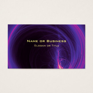 Pink and Purple Circular Abstract Design Business Card