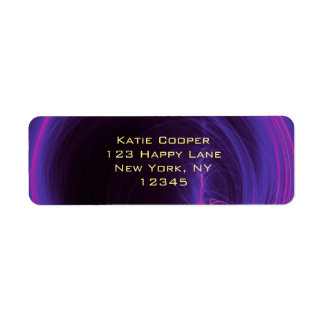 Pink and Purple Circular Abstract Design Label