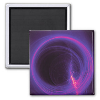 Pink and Purple Circular Abstract Design Magnet