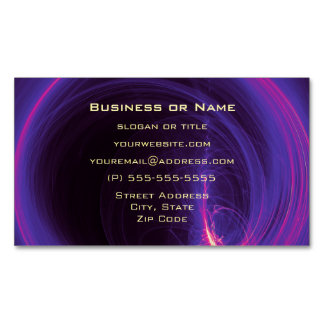 Pink and Purple Circular Abstract Design Magnetic Business Card