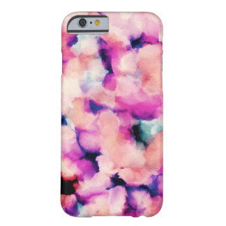Pink and Purple Cloudy Watercolor Abstract Barely There iPhone 6 Case