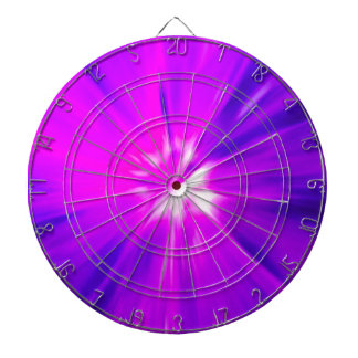 Pink and Purple color burst Dartboard With Darts