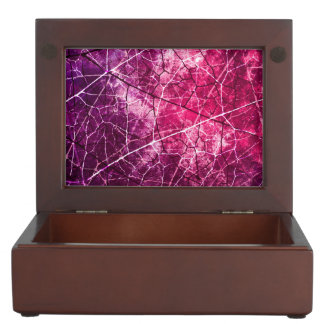 Pink and Purple Crackle Lacquer Grunge Texture Memory Box