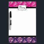 "Pink and Purple Damask Pattern Dry-Erase Board<br><div class=""desc"">Pink and purple damask pattern.</div>"
