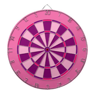 Pink and Purple Dart Board
