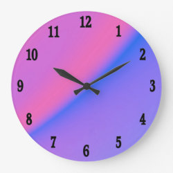 Pink and Purple Day to Evening Wall Clock
