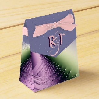 Pink and Purple Delight Monogram Party Favor Boxes