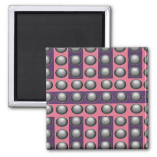 Pink and Purple Dot Pattern Magnet