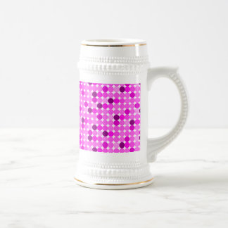Pink and Purple Dots 18 Oz Beer Stein