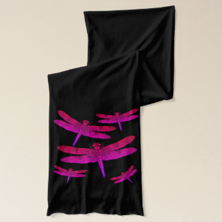 Pink and Purple Dragonflies Scarf
