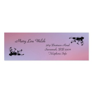 Pink and Purple Elegant Business Card