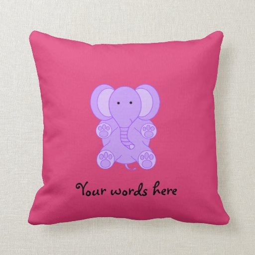 Pink and purple elephant pillow