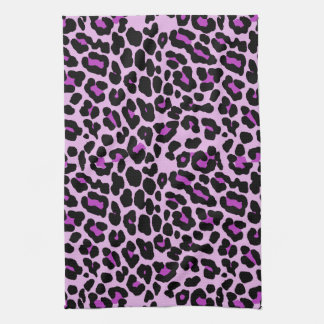 Pink and purple fashionable leopard print towel