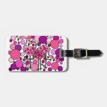 Pink and Purple Flamingo Art Luggage Tags