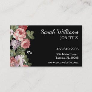 Tampa fl business cards zazzle pink and purple floral business card colourmoves