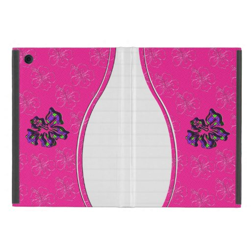 Pink and Purple Floral Hibiscus Flower Cases For iPad Mini