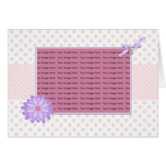 pink and purple floral mother's day photo card