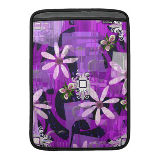 Pink and Purple Flower Art Sleeve For MacBook Air