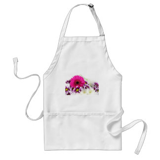 Pink and Purple Flower Bouquet Adult Apron
