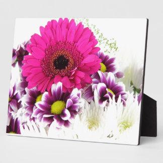 Pink and Purple Flower Bouquet Plaque