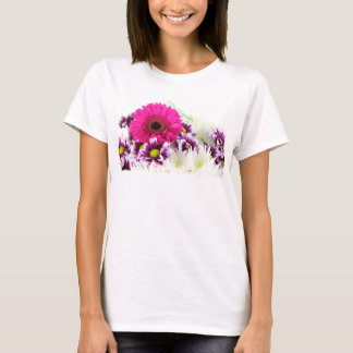 Pink and Purple Flower Bouquet T-Shirt