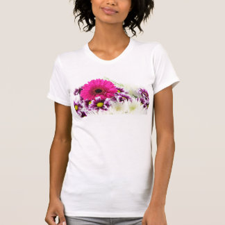 Pink and Purple Flower Bouquet T Shirts