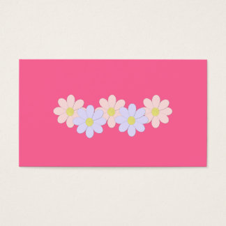 Pink and Purple Flower Business Card