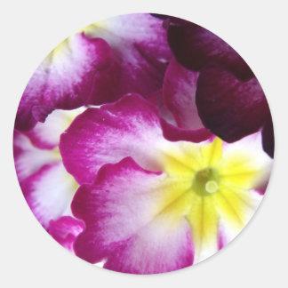 Pink And Purple Flower Design Sticker