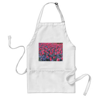 Pink and purple flower field adult apron