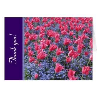 Pink and purple flower field card