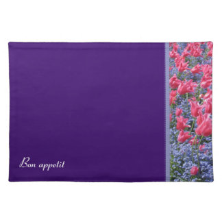 Pink and purple flower field placemats