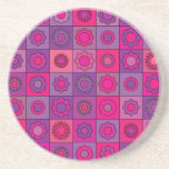 Pink and Purple Flower Pattern Coasters