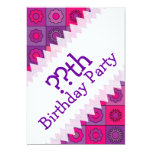 Pink and Purple Flower Pattern Personalized Invites