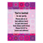 Pink and Purple Flower Pattern Invitation