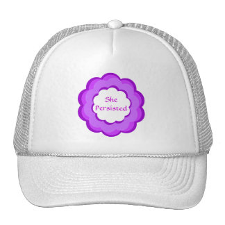 Pink and Purple Flower She Persisted Hat