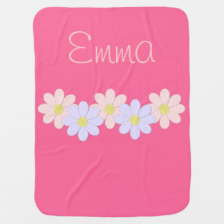Pink and Purple Flower Baby Blankets
